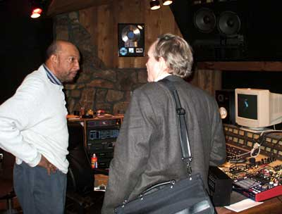 Larry Chambers and Anders Lillsunde in the Ecko control room